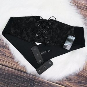 torrid ∙ black lace corset stretch belt